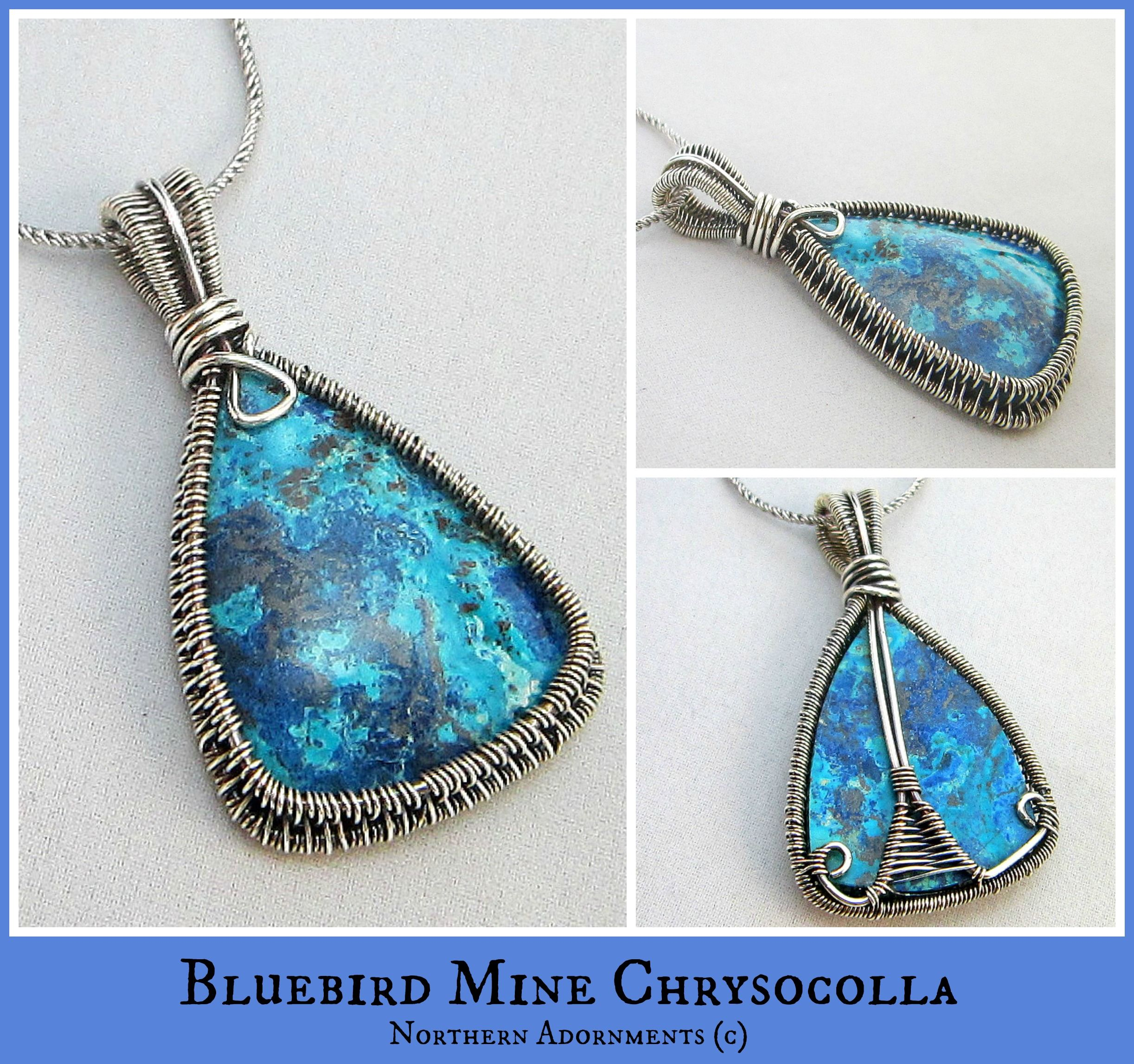 Bluebird Mine Chrysocolla. Check me out at www.northernadornments ...