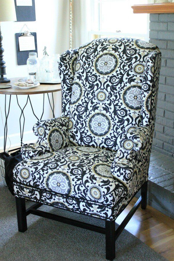 A Woman Updates This U0027eyesoreu0027 Chairu2014see How She Does It Without Any Sewing!