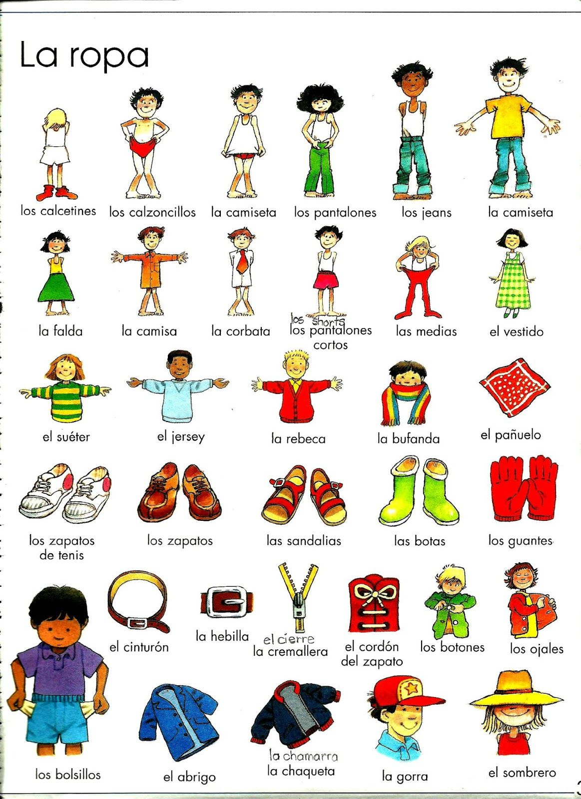 Spanish Activities Colors, Shapes and Clothes