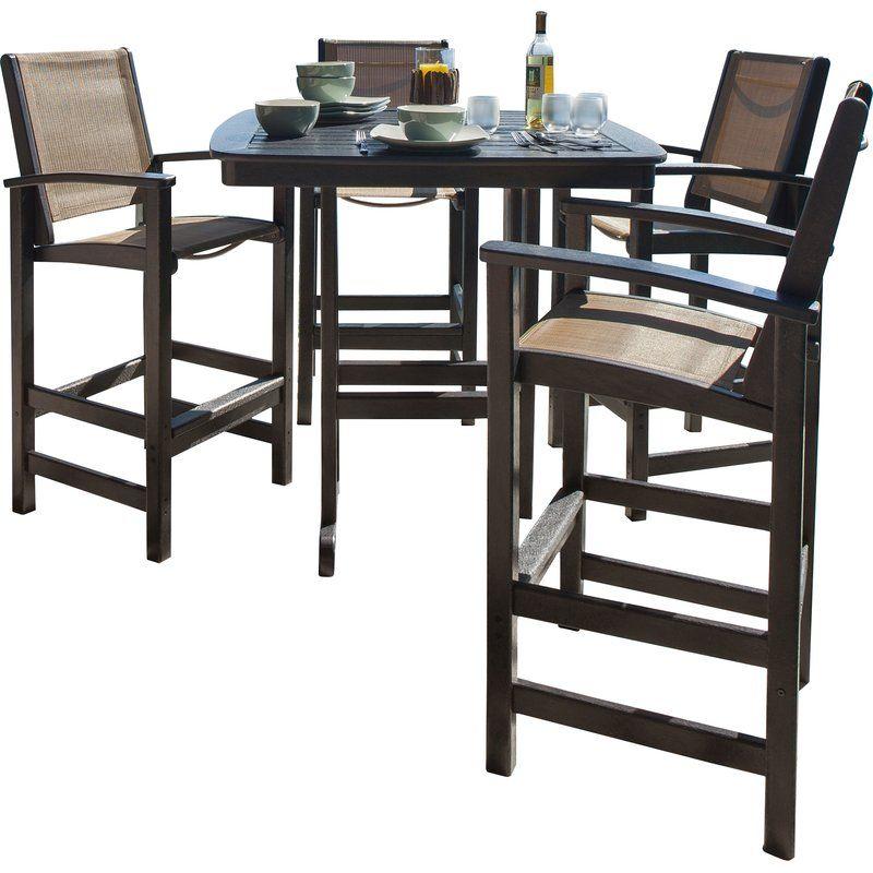 Coastal 5 Piece Bar Height Dining Set | Dining set, Wooden ...