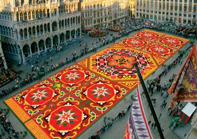 Tapestry: A Giant Carpet of Begonias . . . .Brussels | Sublime Gardens | Places, Real flowers, Floral