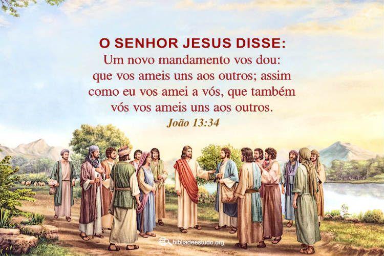 Joao 13 34 Com Imagens Imagens De Biblia