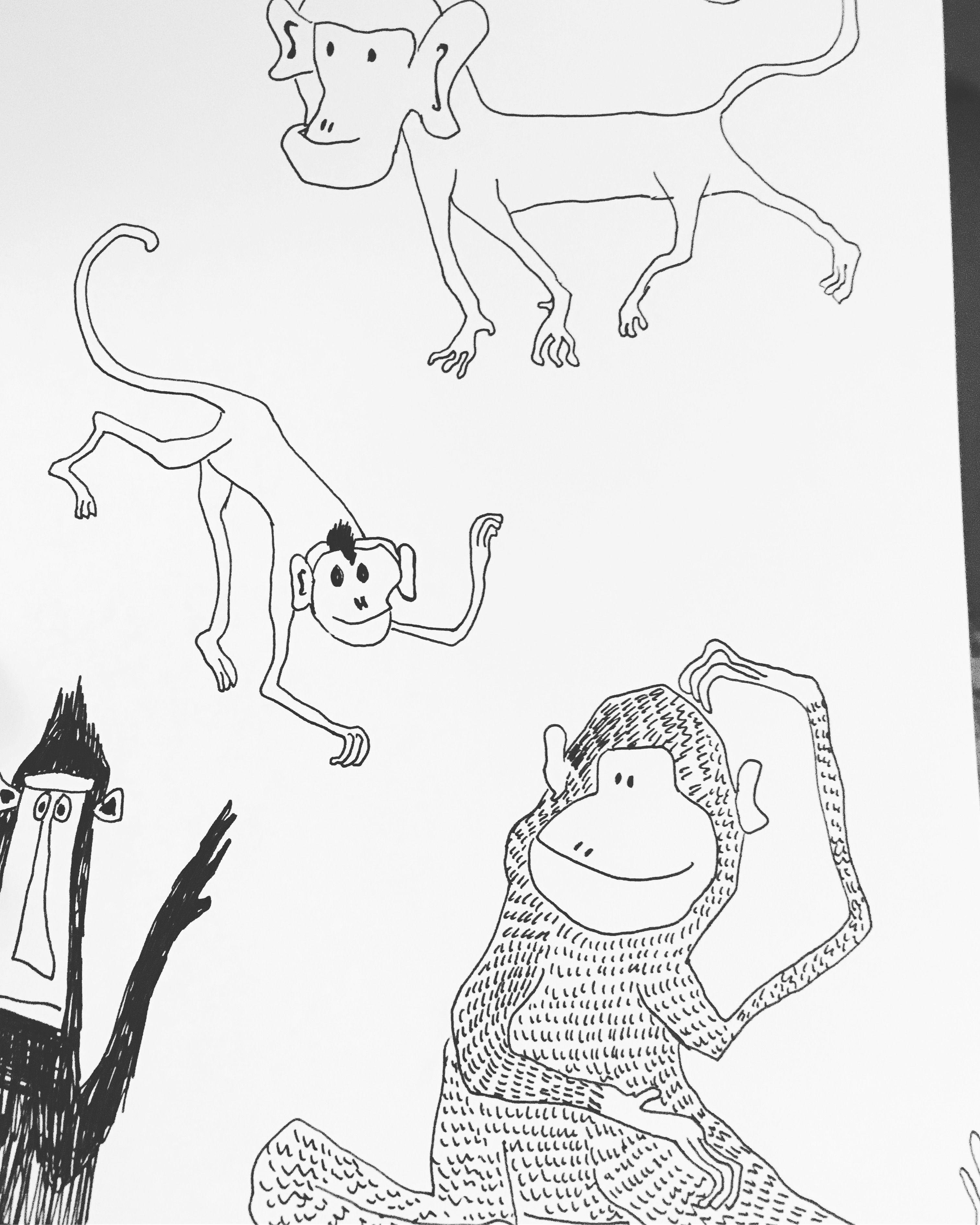 Monkeys Illustration Laura Pannasch | art | Pinterest