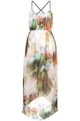 pixelated maxi dress