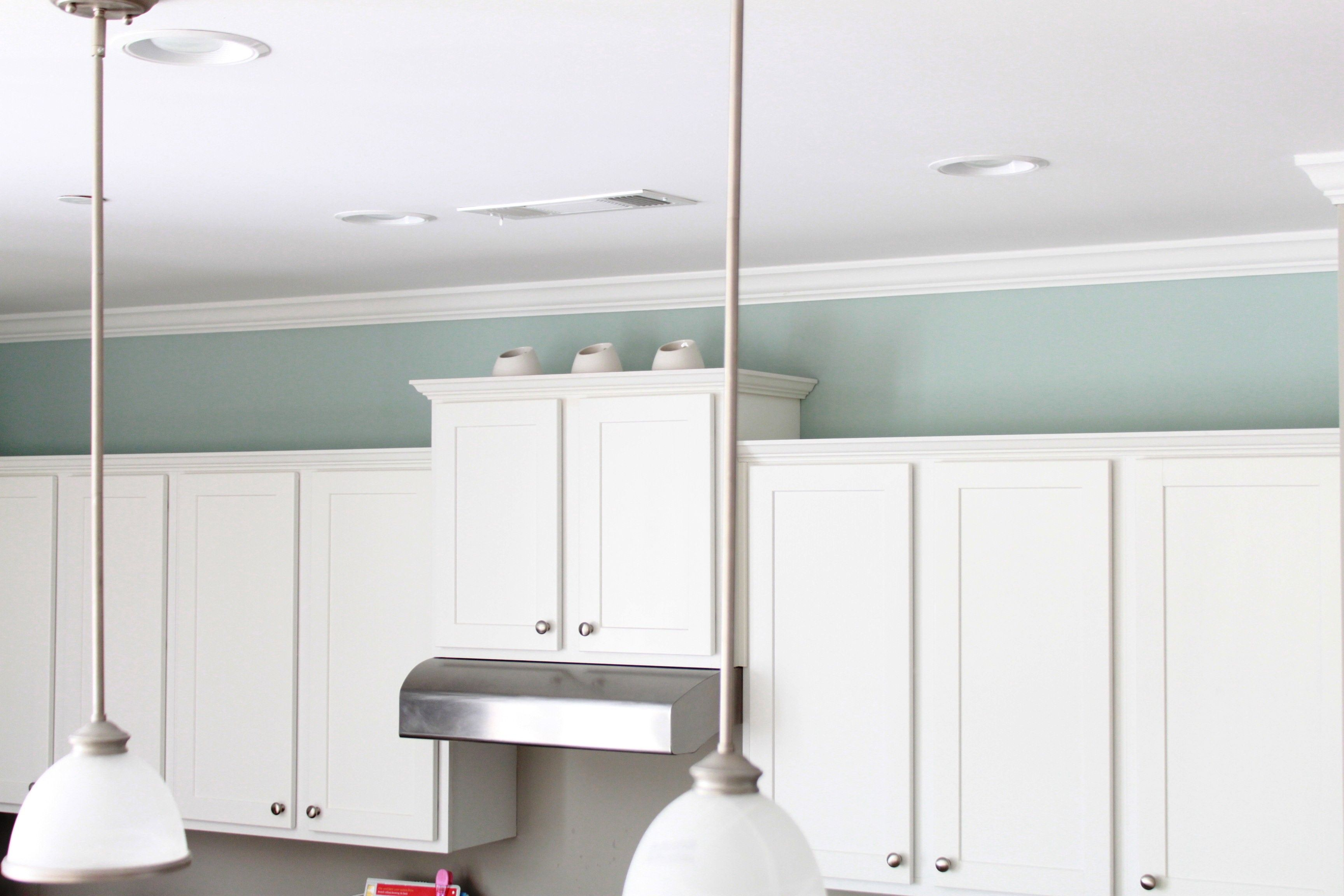 Benjamin moore woodlawn blue kitchen boston condo for Blue colors for kitchen walls