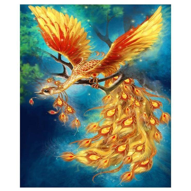 NEW Phoenix Harry Potter 5D Diamond Mosaic Painting Cross Stitch Home Wall Decor