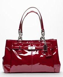 Coach Chelsea Patent Leather Carryall in Wine