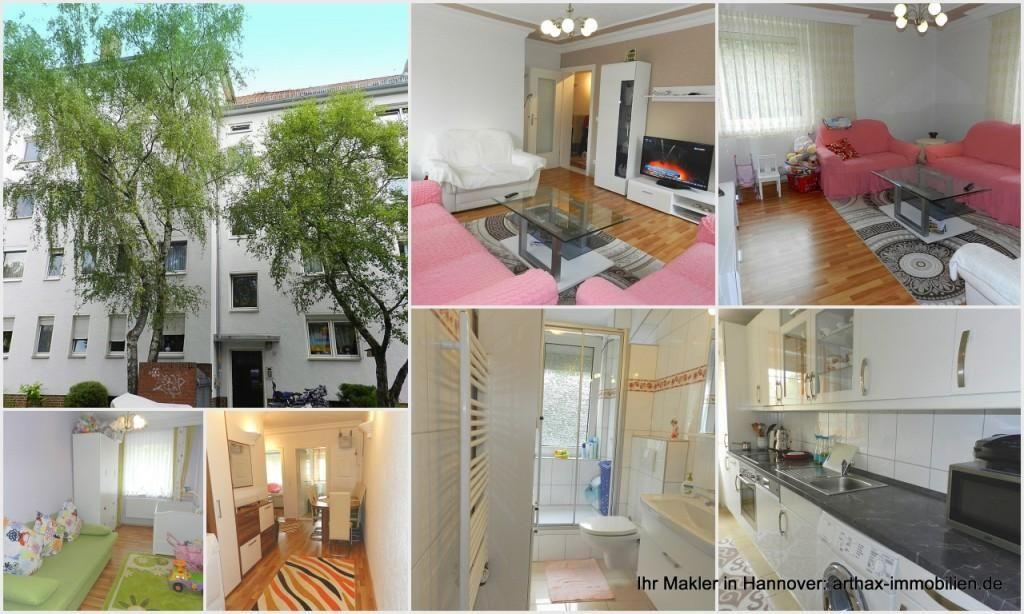 Helle, renovierte 3 Zimmer Wohnung mit EBK in Hannover