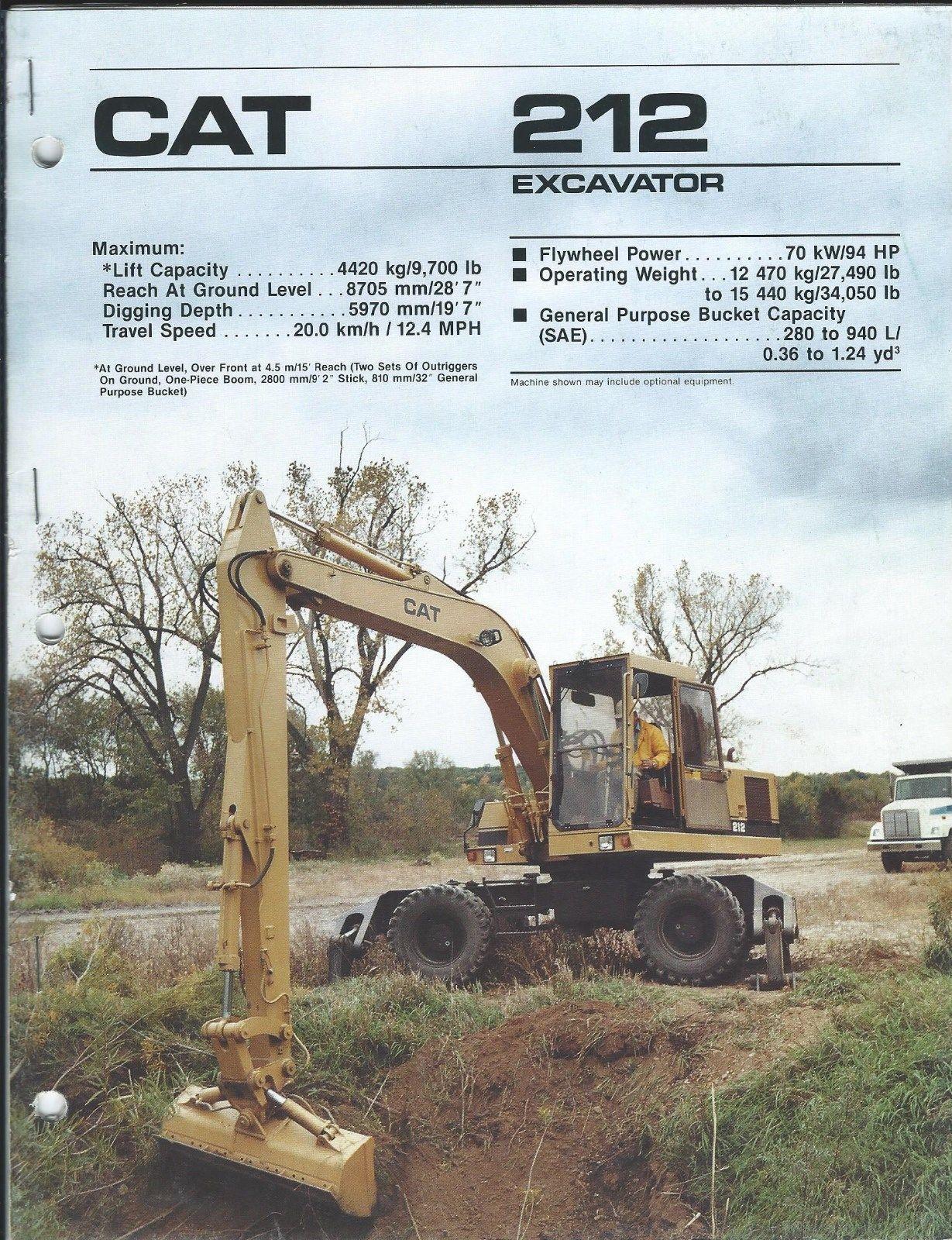 Details About Equipment Brochure - Caterpillar