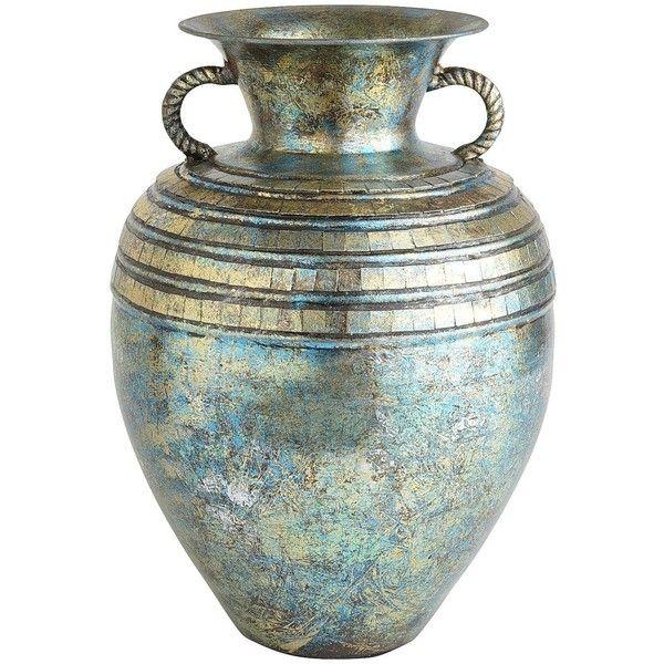 Pier 1 Imports Turquoise Patina Mosaic Vase 45 Liked On