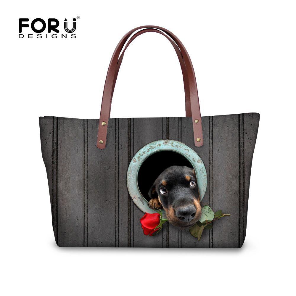 b9e429fa6e Forudesigns borse da donna cute dog bassotto modello lady crossbody bbag per  le donne di viaggio progettista grigio sac uno dei principali borse mujer