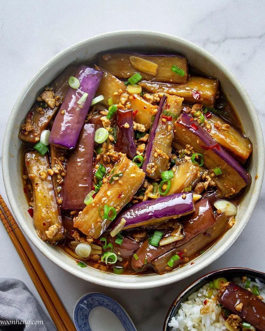 Vegan Spicy Garlic Eggplant Recipe In 2021 Delicious Vegan Recipes Spicy Eggplant Eggplant Dishes