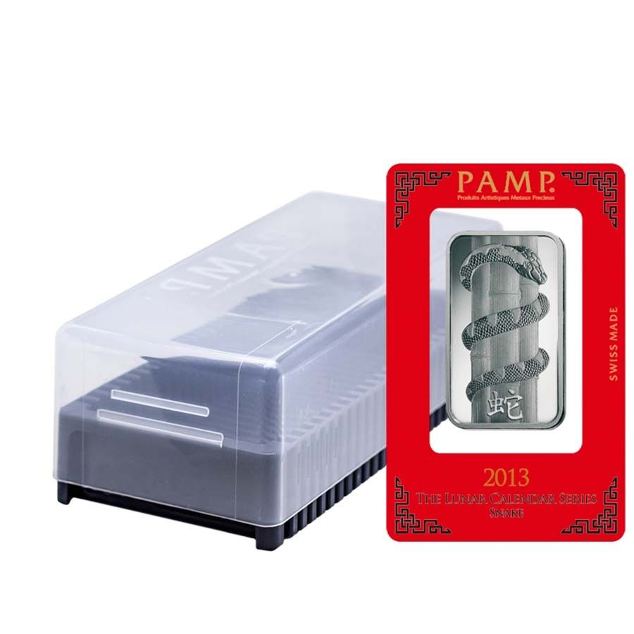 Box Of 25 1 Oz Pamp Suisse Year Of The Snake Silver Bar In Assay Silver Bars Year Of The Snake Year Of The Dragon