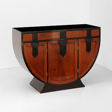 Art deco auction oct 31 nov 1 2012 a u shaped sideboard collectibles - Art deco muebles ...