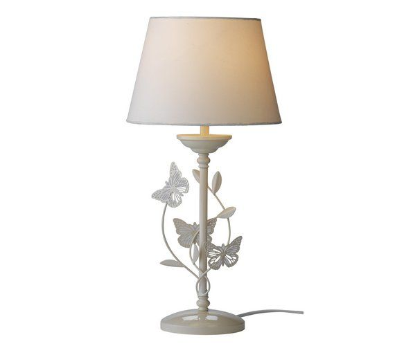 Buy collection butterflies table lamp ivory at argos visit buy collection butterflies table lamp ivory at argos visit argos aloadofball Image collections