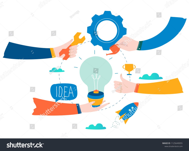 Idea, thinking, content development, brainstorming