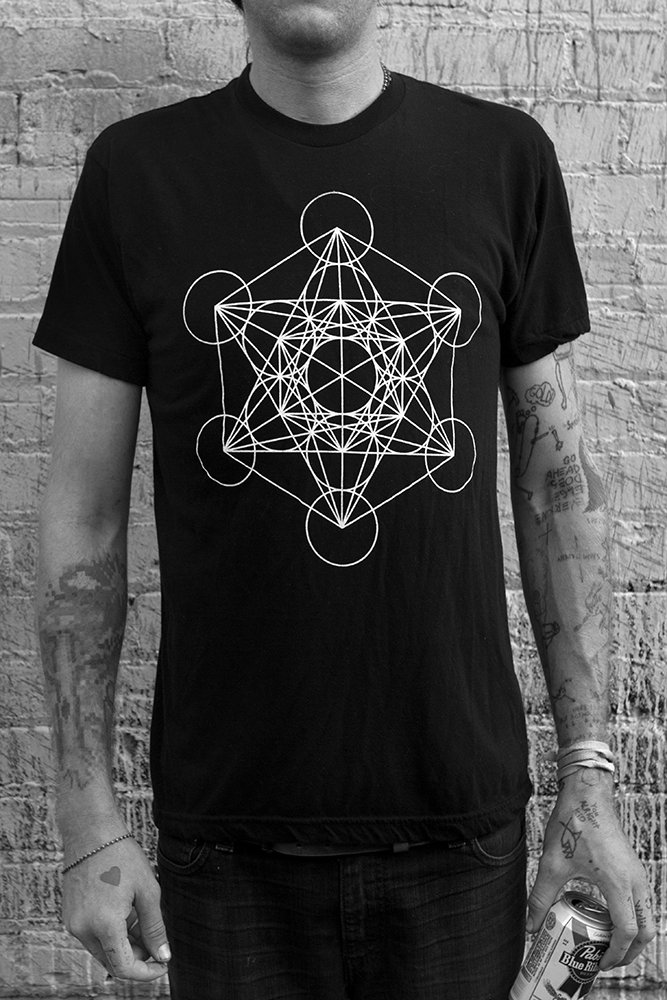Metatrons cube t shirt the blueprint of the universe containing metatrons cube t shirt the blueprint of the universe containing the basis for the design of everything in existence white print on a black american malvernweather Choice Image