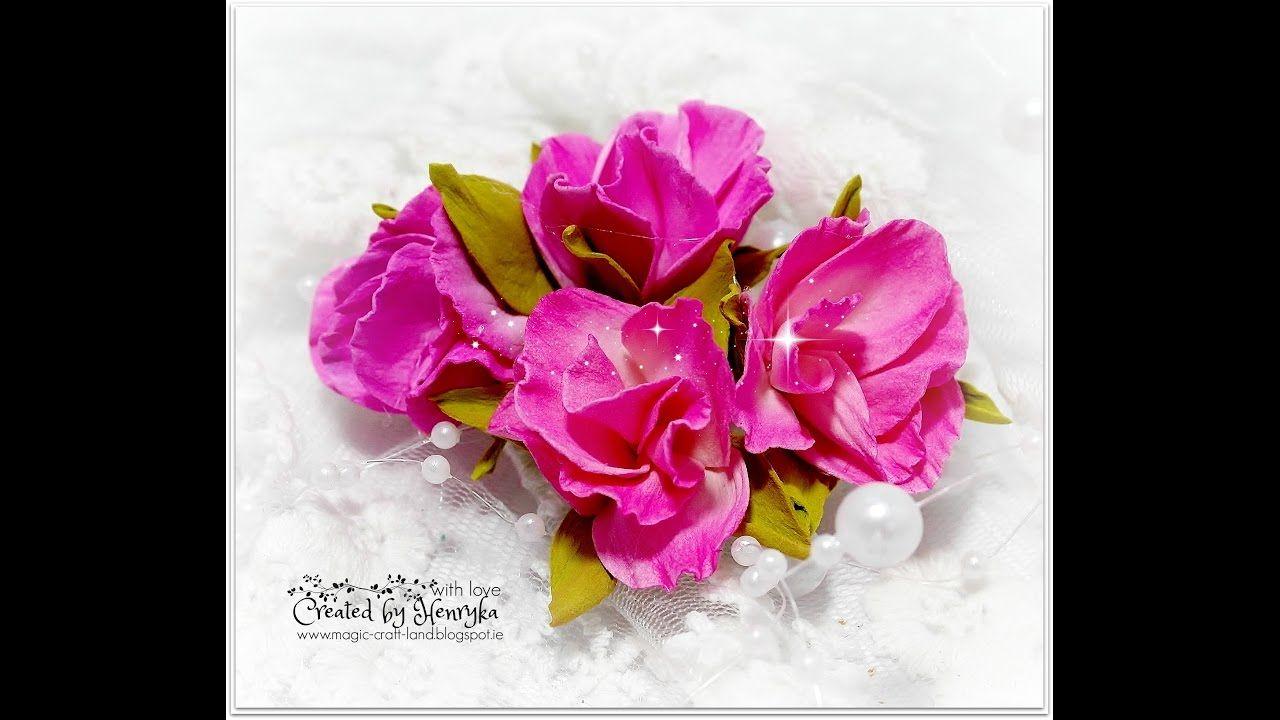 Foamiran wild roses video tutorial flowers foam pinterest foamiran wild roses video tutorial mightylinksfo