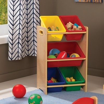 Create A Clutter Free Zone With The KidKraft 5 Bin Storage Unit. Every Toy  Deserves A Place To Call Home, And This Toy Organizer Makes It Easy And Fun  For ...