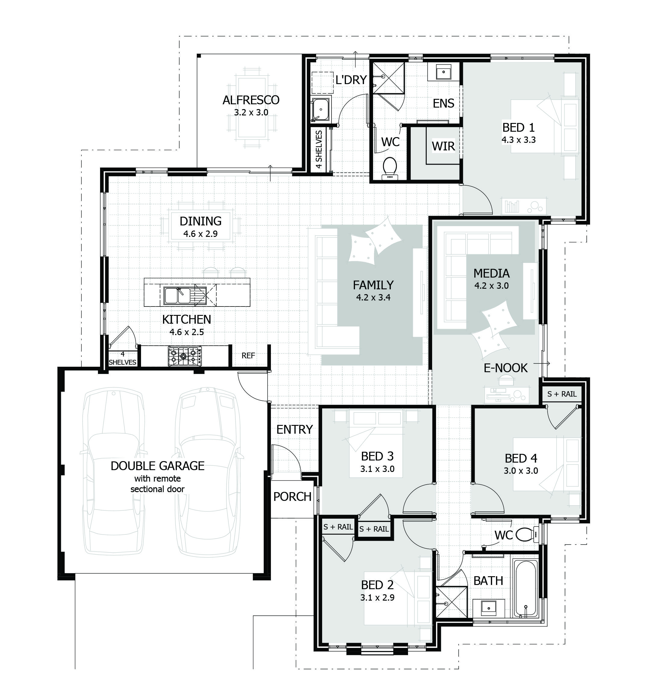 New home designs perth wa single storey house plans also rh in pinterest