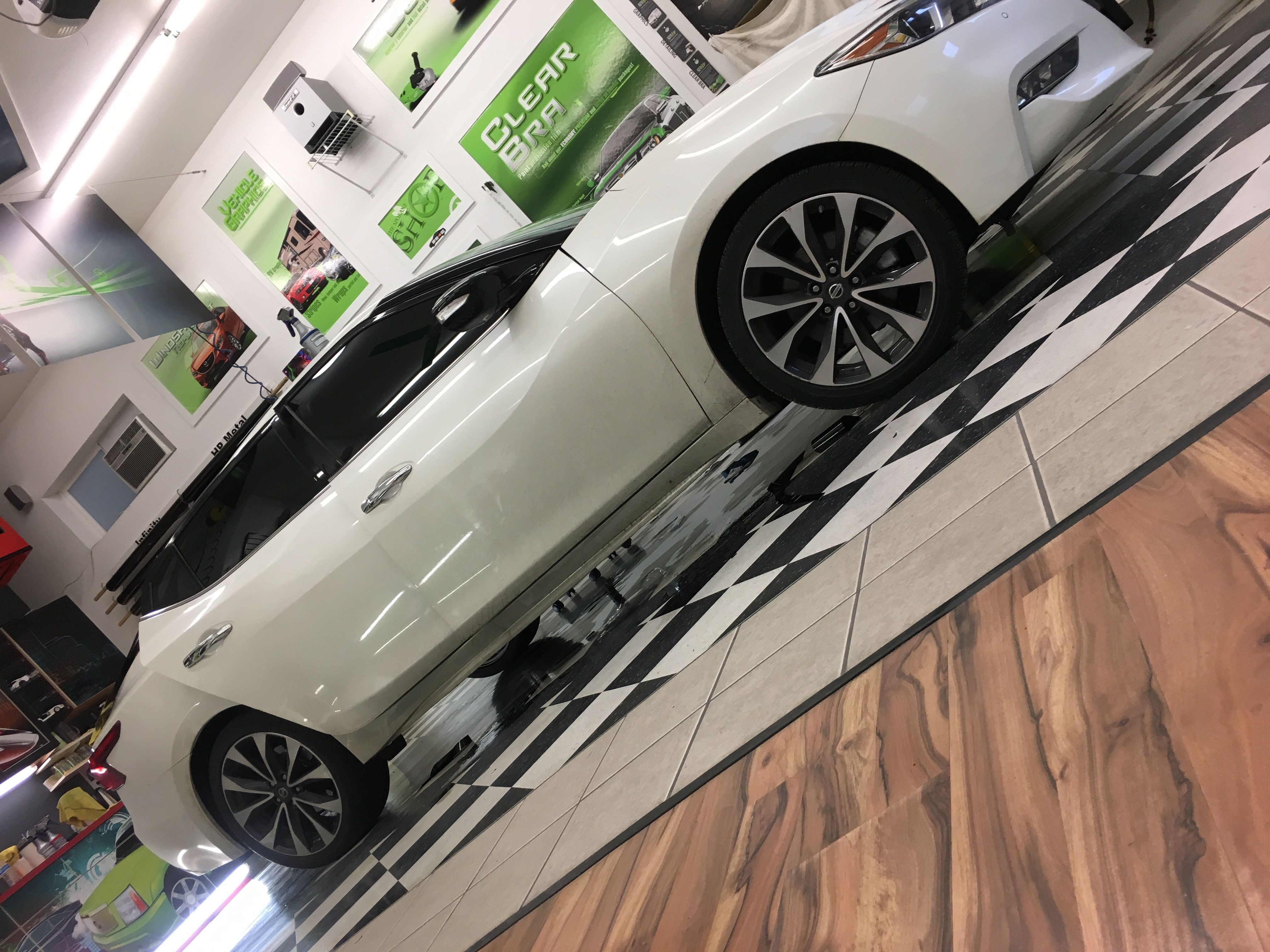 This Nissan Maxima Is That Extra A Gentleman Came In And Ordered A Mind Blowing Tint Package Whoo Hoo P With Images Commercial Window Tinting Tinted House Windows Tints