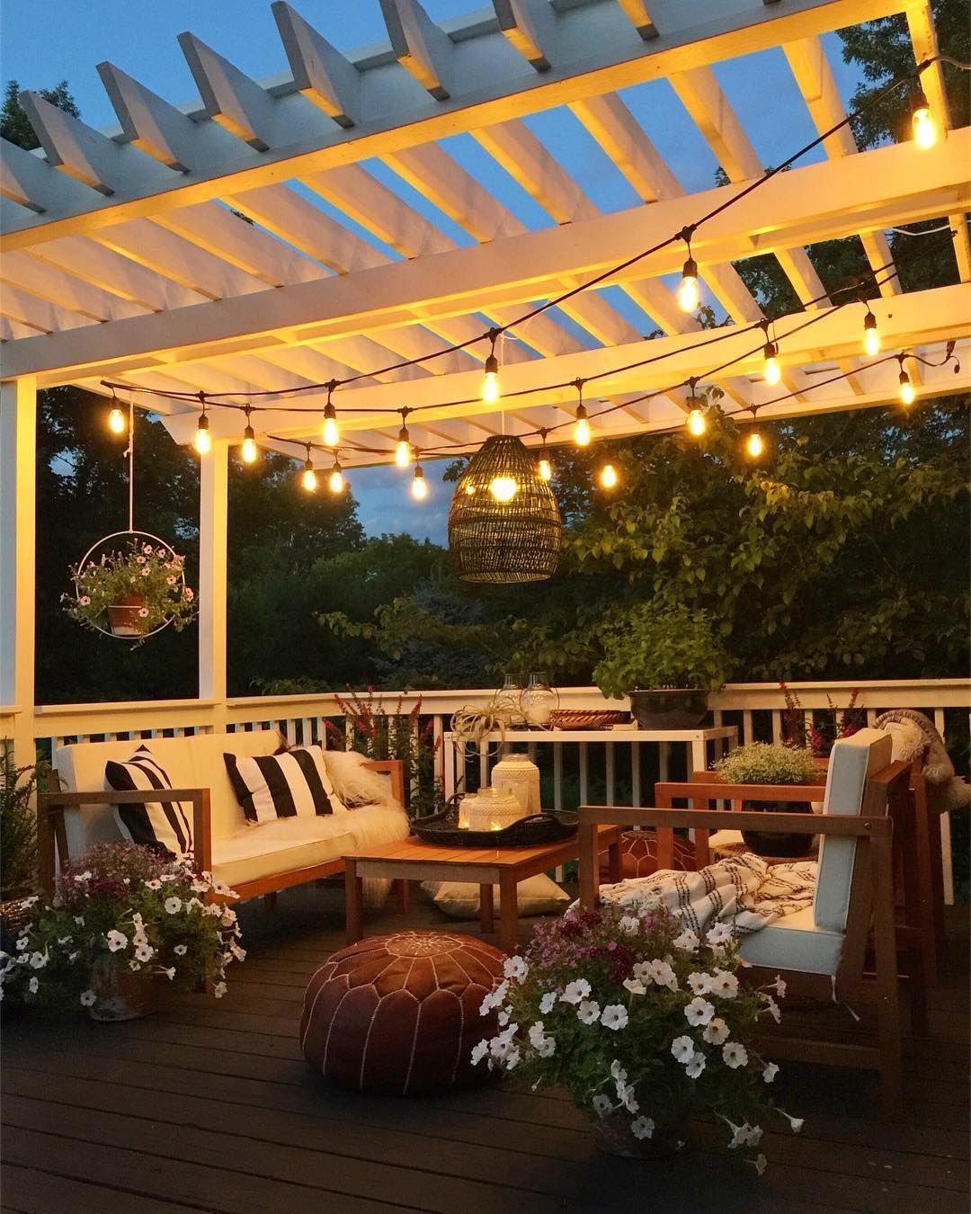 Garden Lights Terrassenpergola Pergola Beleuchtung Im Freien