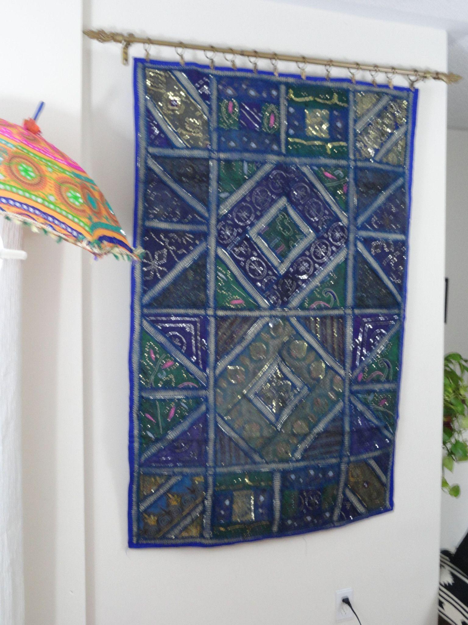 "Ethnic Wall Tapestry. Home decor idea ""Blue Ganges""- Fabric Wall Hanging wall decor. Indian ethnic wall tapestry. Artikrti"