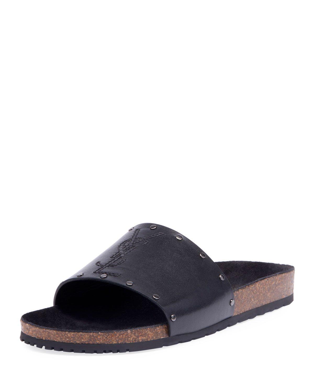 adb869afb517 SAINT LAURENT MEN S JIMMY 20 YSL SLIDE SANDALS.  saintlaurent  shoes ...