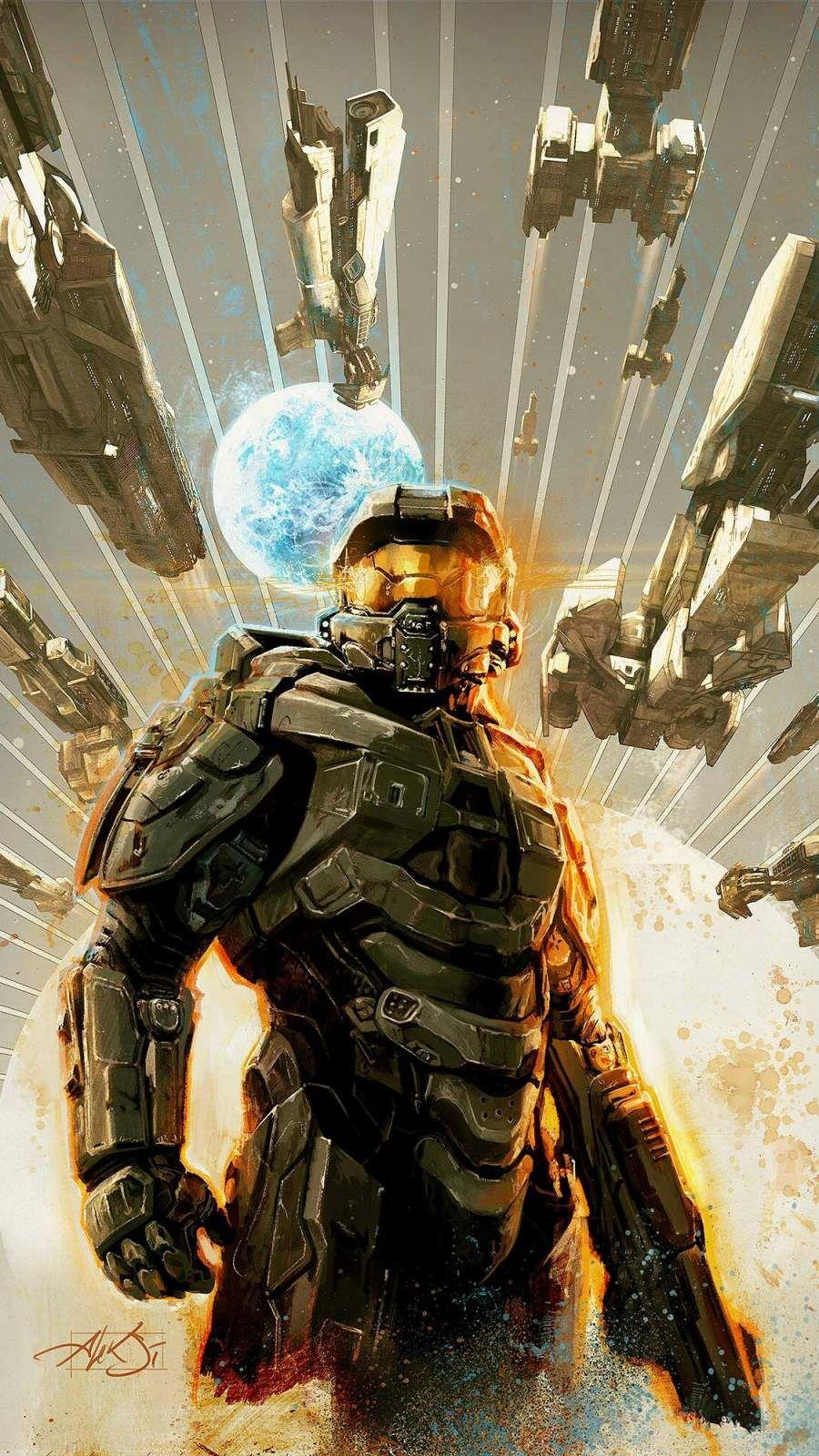 Halo Wallpapers Backgrounds Masterchief Battle Halo Combat Evolved Combat Evolved Halo