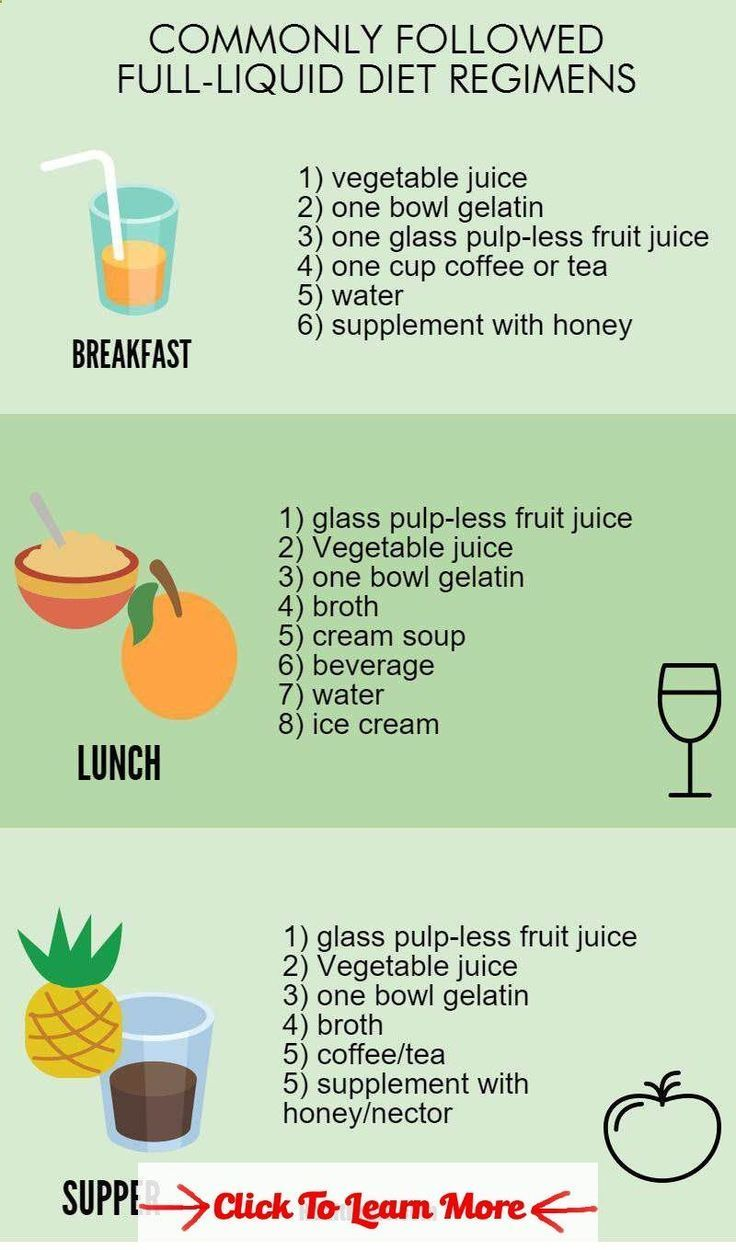 full liquid diet-menu,foods, and diet plan infographic2 #health #fitness #weight...