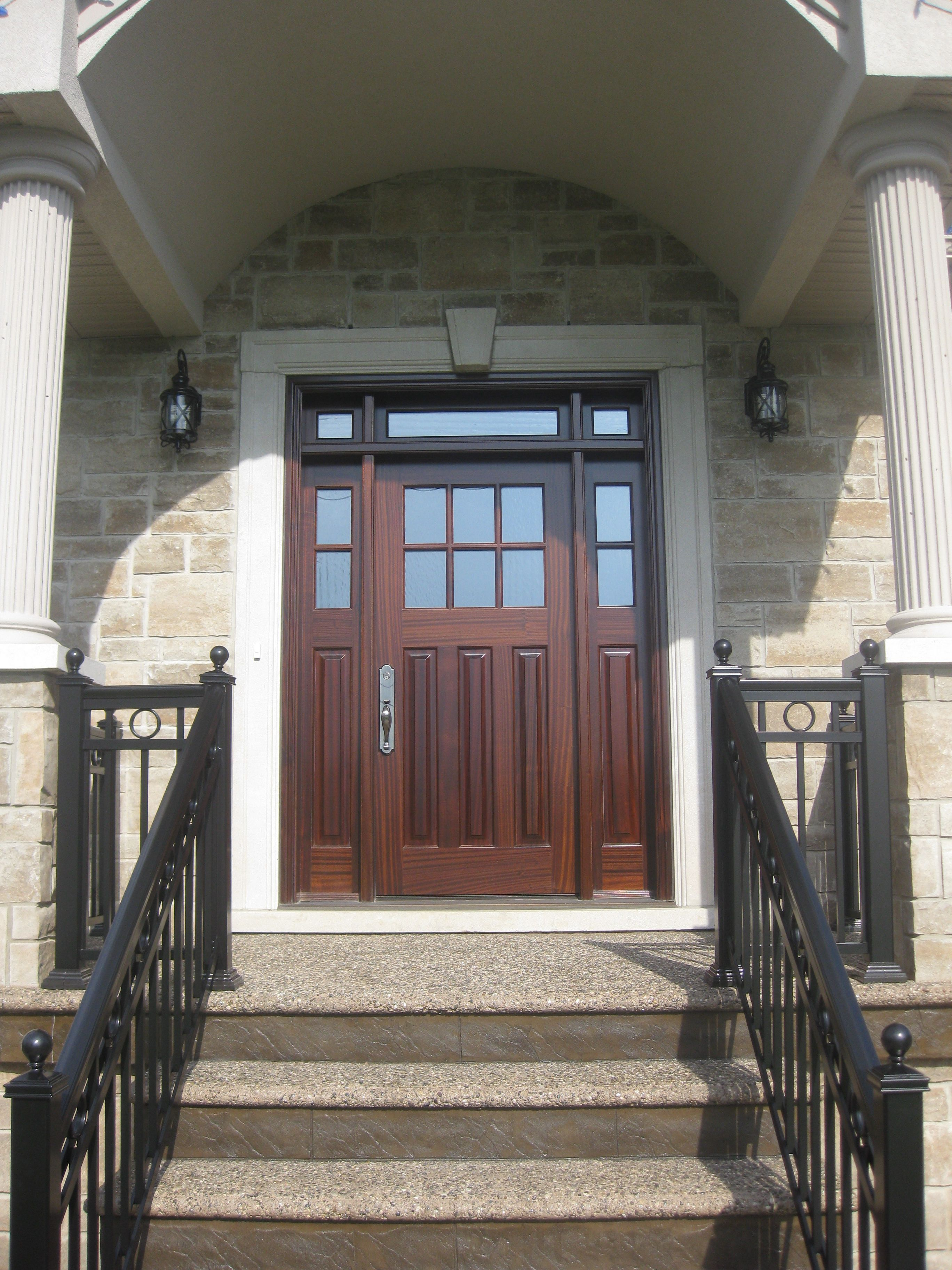 Amberwood Doors Inc: This Is A Very Traditional 3 Panel Gorgeous Mahogany