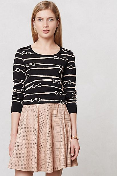 Ribbon Ruled Sweater #anthropologie #anthrofave