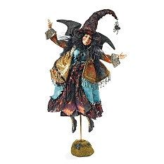 Witch Decorations - Witch Decor - Witch Figures - Flying Witch Decoration - Grandin Road