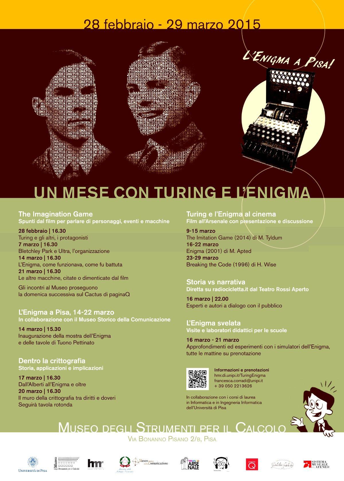 L'Enigma a Pisa @ Museo degli Strumenti per il Calcolo, Via Bonanno Pisano 2/B - Pisa - 14-Marzo https://www.evensi.com/lenigma-a-pisa-museo-degli-strumenti-per-il-calcolo-via/146735953