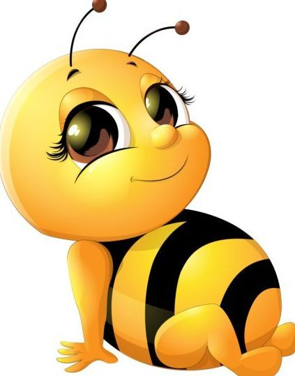 lovely cartoon bee set vectors 05 everything i love cute bees clipart cute bees clipart