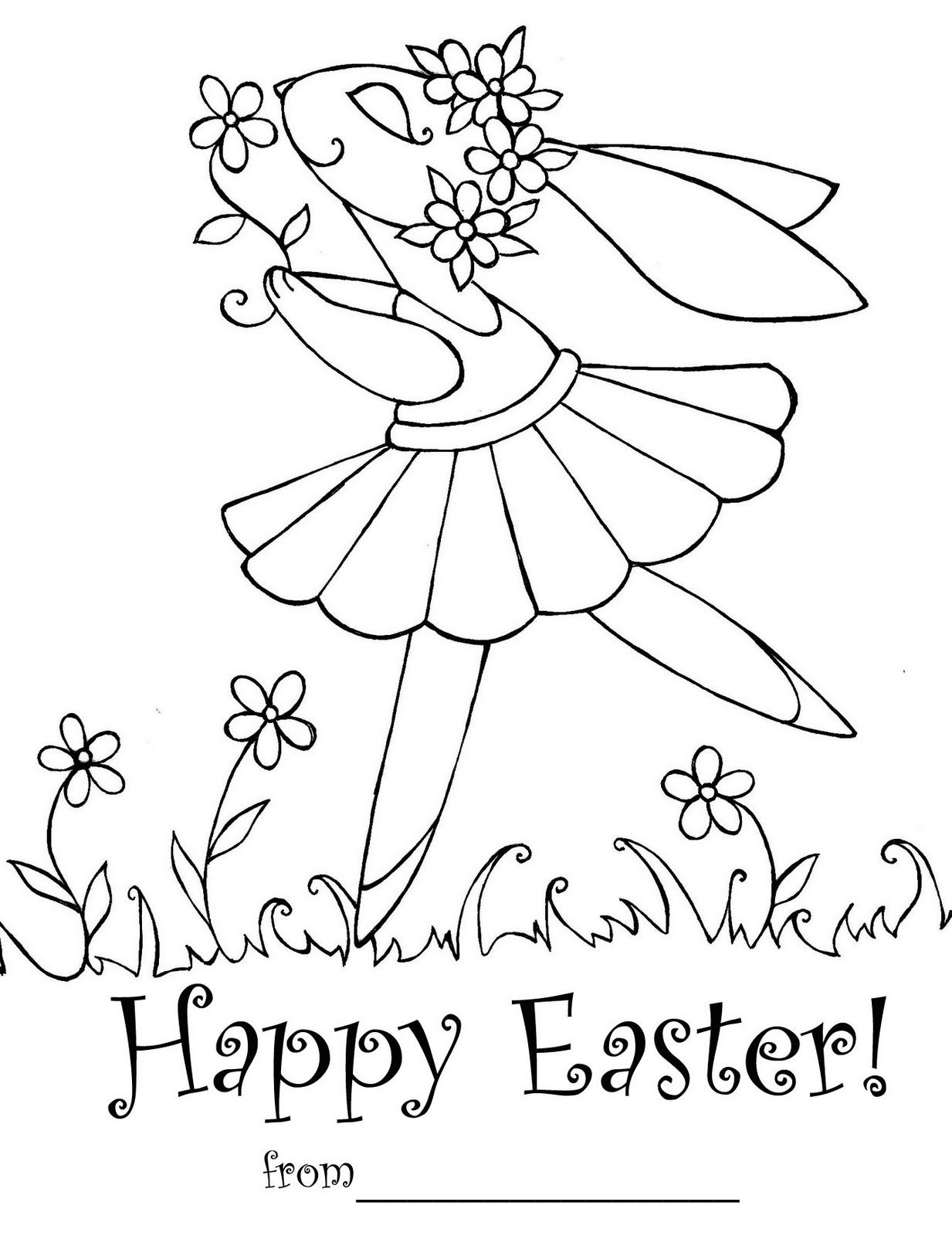 This Easter Colouring Sheet Doubles Up As An Easter Card