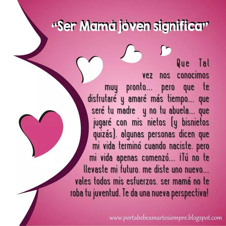 Ser Mama Joven Frases De Mami Frases Para Padres Y