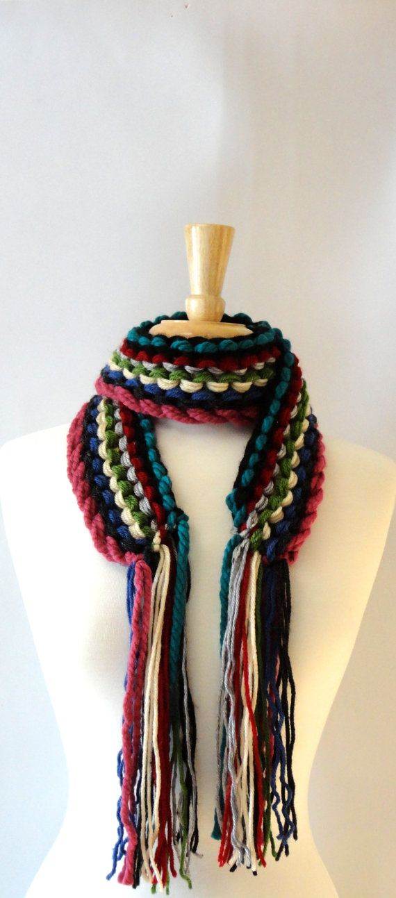 ONLY ONE  Multicolor Chunky Knit Striped by LaurasLovelyKnits, $30.00