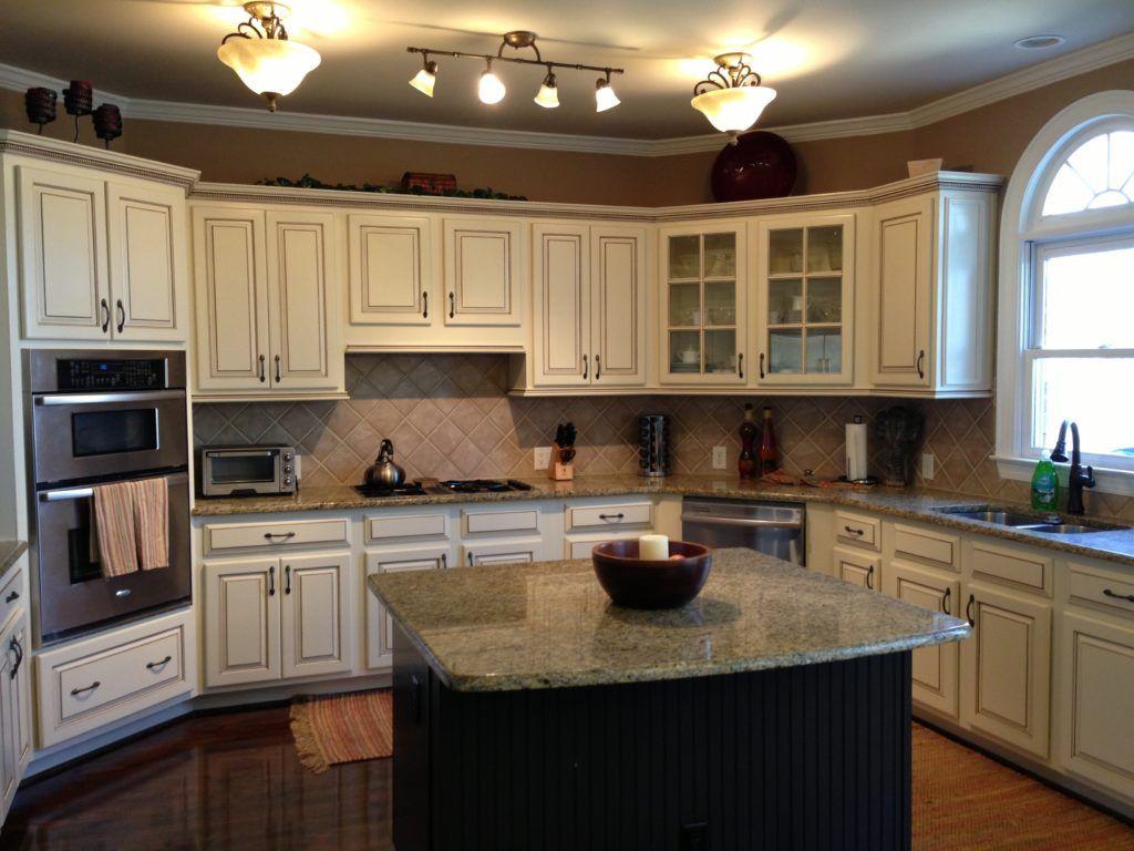 Antique Almond Kitchen Cabinets Glazed Kitchen Cabinets Antique White Kitchen Kitchen Design