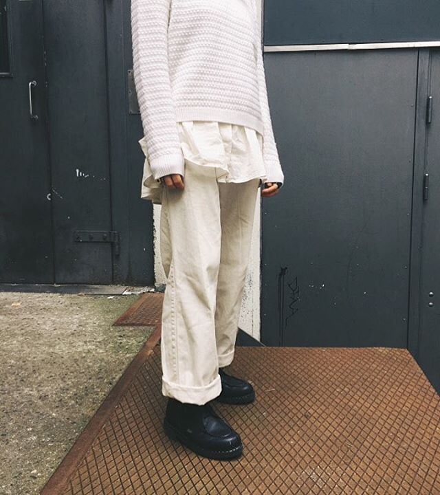 Look Norse Projects Bera Bubble In Ecru Paired With Our Exclusive