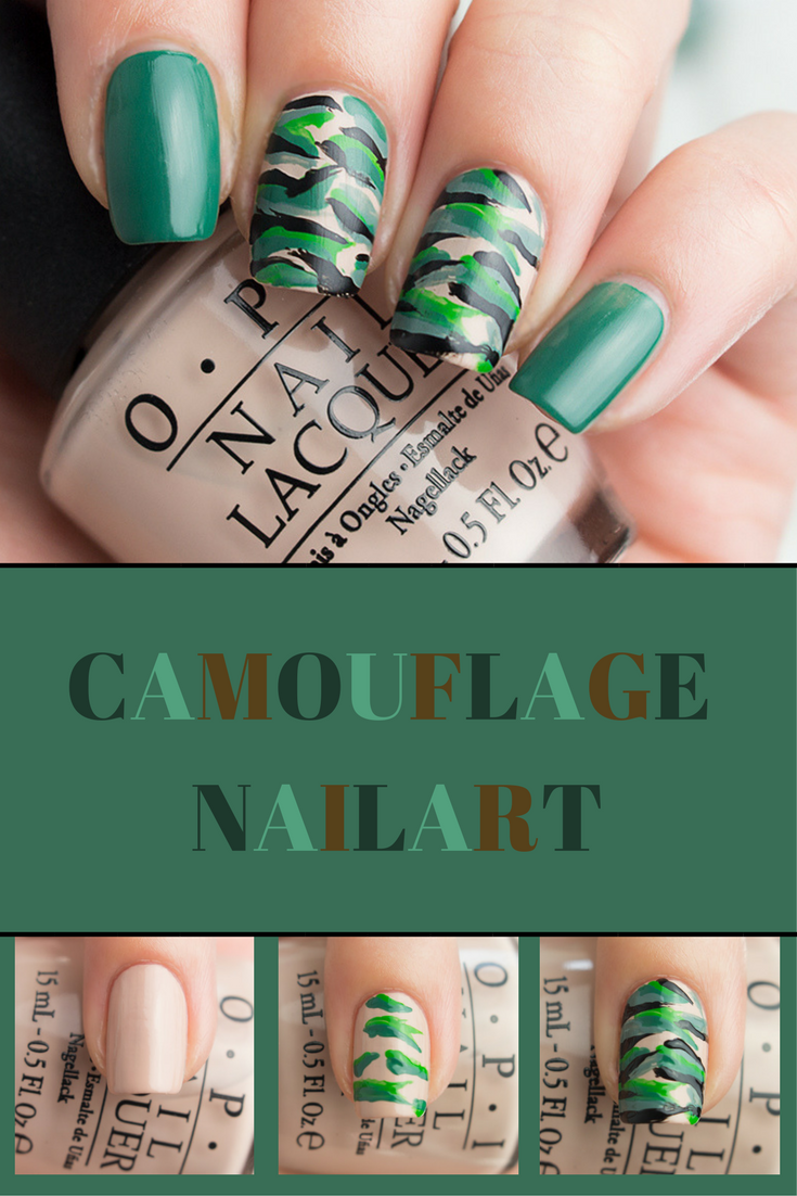 Camouflage Nägel | Camouflage and Beauty nails
