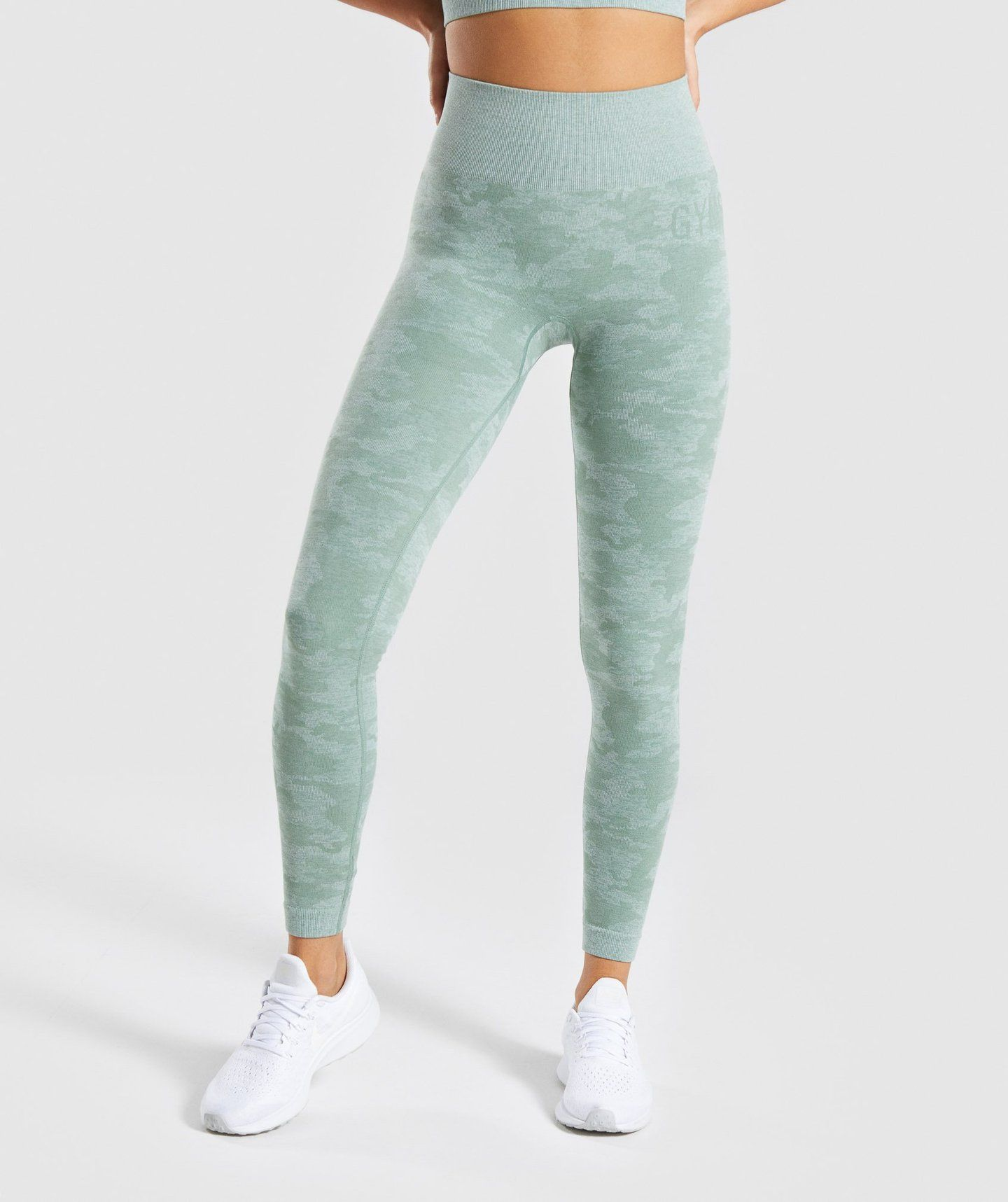best site select for authentic hot product Gymshark Camo Seamless Leggings - Sage Green in 2019 | BODY ...