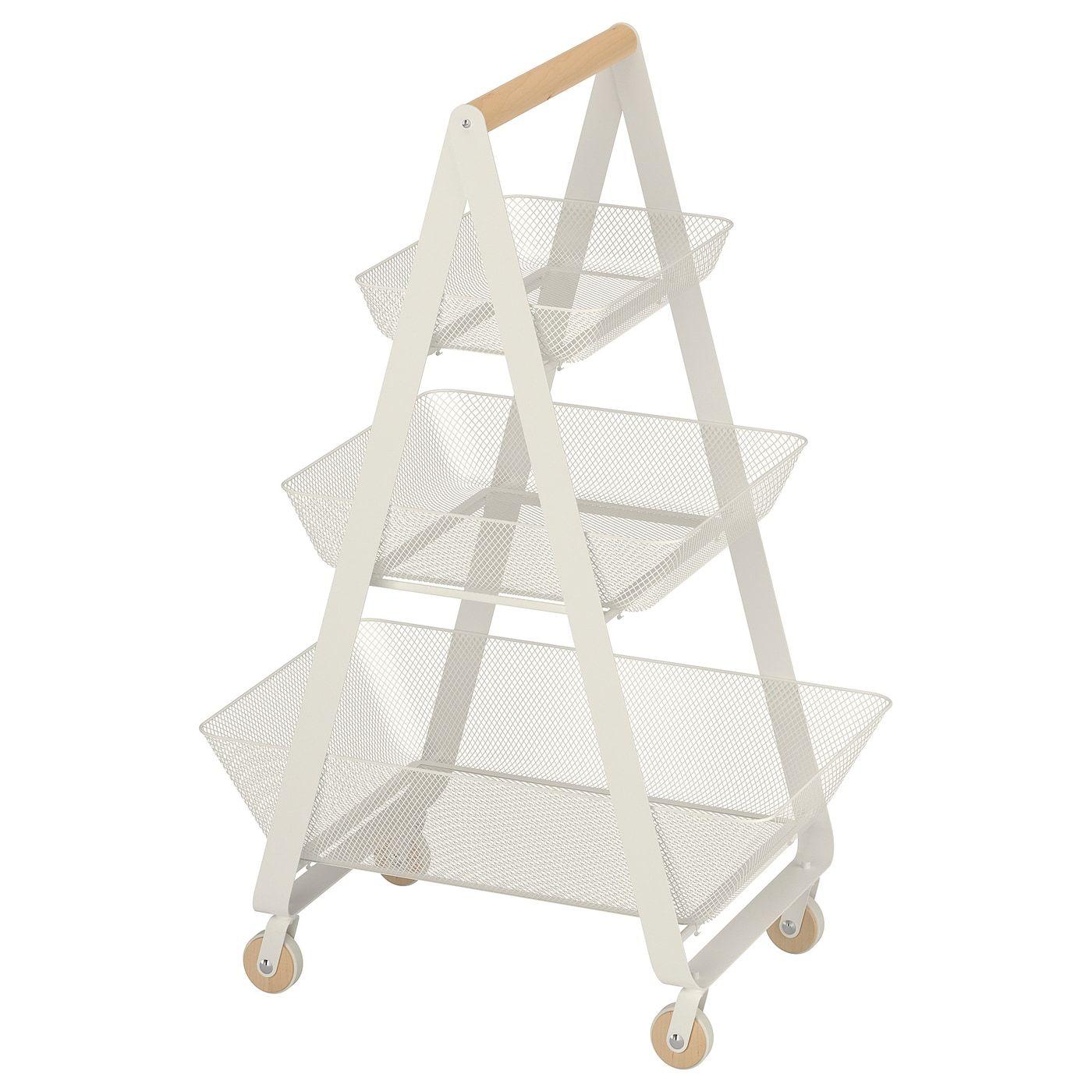 RISATORP Roltafel, wit - IKEA