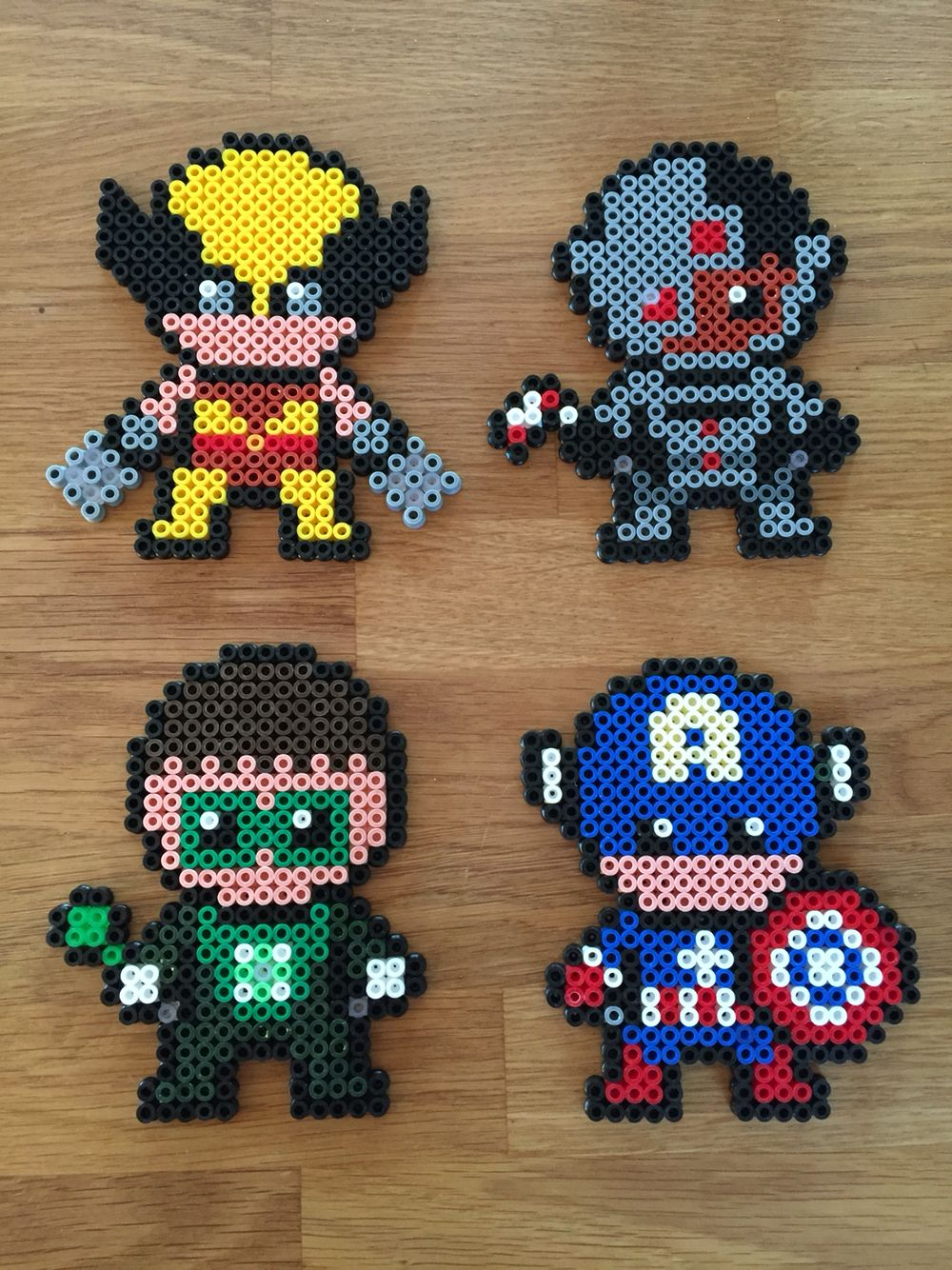 Wolverine, Cyborg, Green Lantern, Captain America ...