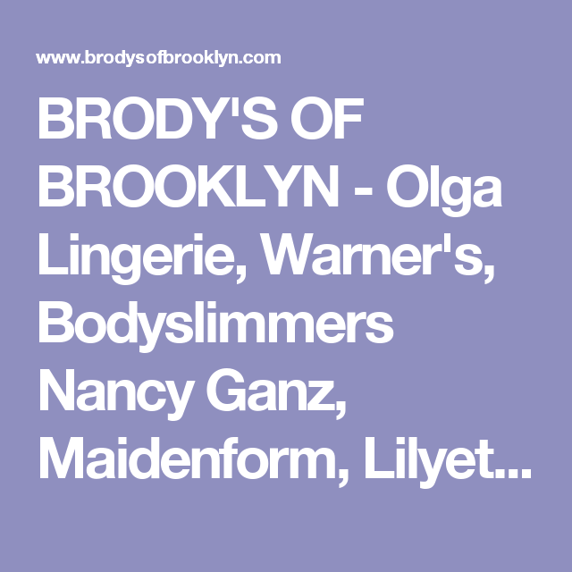 67508af0d851 BRODY S OF BROOKLYN - Olga Lingerie
