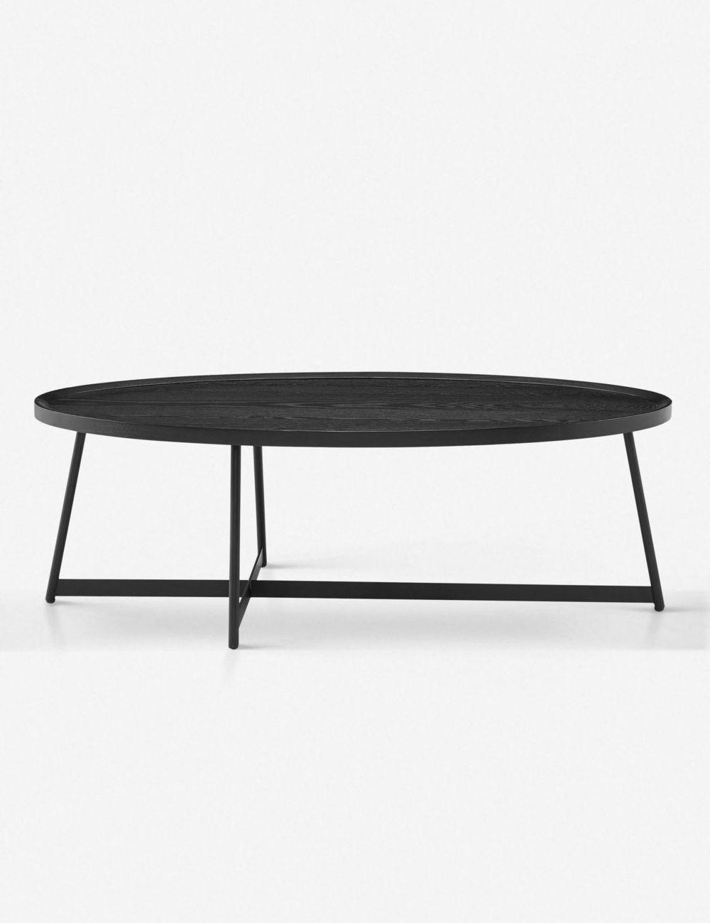 Gweneth Oval Coffee Table Black Ash In 2021 Coffee Table Oval Coffee Tables Black Living Room Table [ 1300 x 1000 Pixel ]