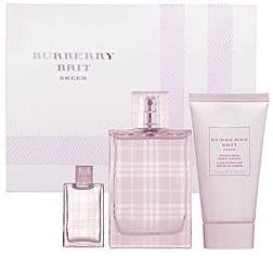 burberry brit sheer eau de toilette spray 8q8w  Burberry Brit Sheer Gift Set by Burberry Perfume for Women 3 Piece Set  Includes: oz Eau de Toilette Spray + oz Perfumed Body Lo