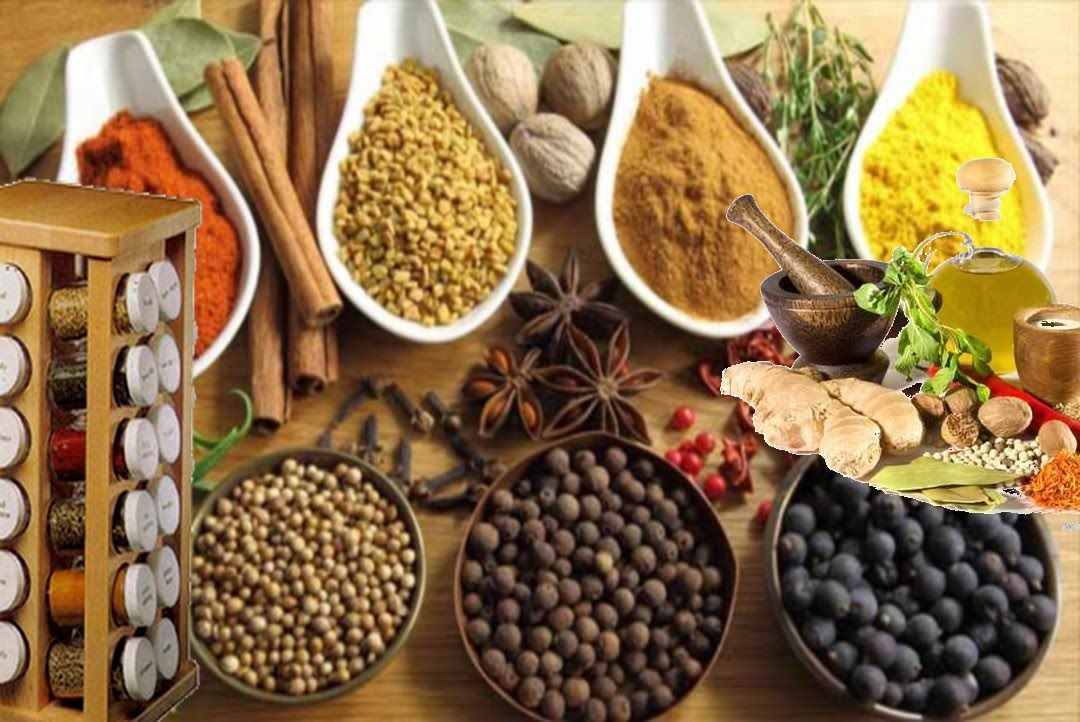 اسماء البهارات والتوابل الاعشاب للمطبخ بالصور Food Real Food Recipes Spices