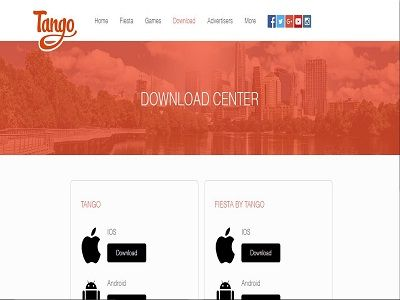 Tango application is a free video and audio messaging app which