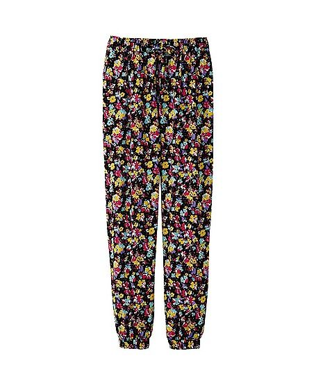 Floral Pants from uniqlo!!!!!!